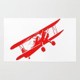 Vintage Aeroplane Decoration Rug