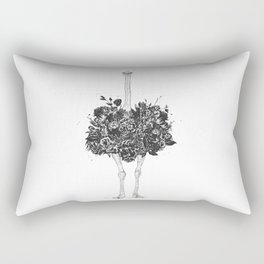 Floral ostrich Rectangular Pillow