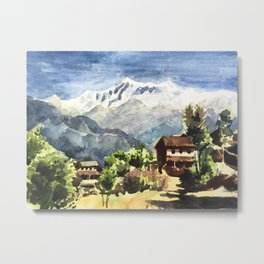 Himalayan Village in Nepal Metal Print