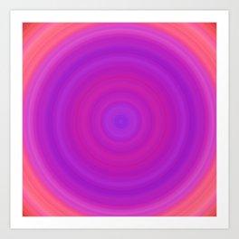 Orange & Purple Gradient Circles Art Print