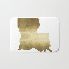 louisiana gold foil state map Bath Mat