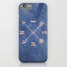 Rosegold and Blue Compass iPhone 6s Slim Case