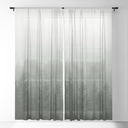 Step Into My Office Sheer Curtain
