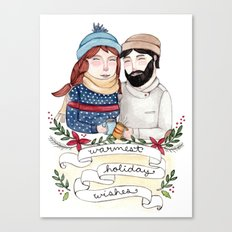 Warmest Holiday Wishes Canvas Print