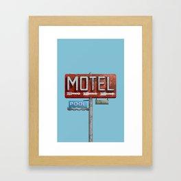 Motel / Pool Framed Art Print