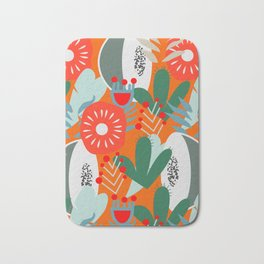 Cacti, fruits and flowers Bath Mat