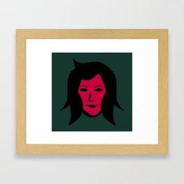 Hello Lady Framed Art Print