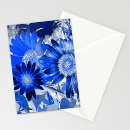3 Blue Sunflowers Stationery Cards