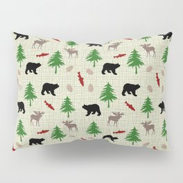 Moose & Bear Pattern Pillow Sham
