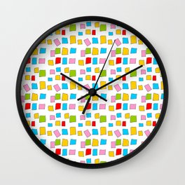 rectangle and abstraction 3-mutlicolor,abstraction,abstract,fun,rectangle,square,rectangled,geometri Wall Clock