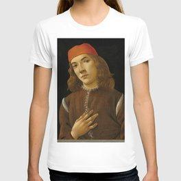 "Sandro Botticelli ""Portrait of a Young Man"" (I) T-shirt"
