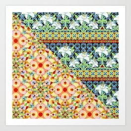 Tangerine Confetti Lilies Art Print