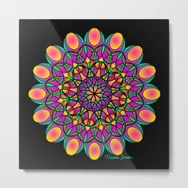 Flower Lace Mandala Metal Print