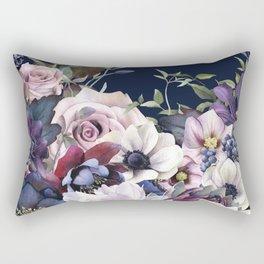 Dutch Style - Dark Moody Floral Rectangular Pillow