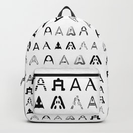 A is the first letter Backpack