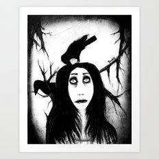 Her eyes so innocent... on hallowed ground. Art Print