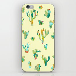 Cactus colorful pattern iPhone Skin