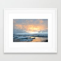 iceland Framed Art Prints featuring iceland by katie moon