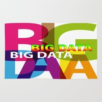 data Area & Throw Rugs featuring Creative Title : BIG DATA by Don Kuing