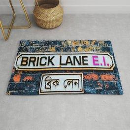 London Brick Lane Sign Rug