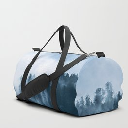 Clear away the fog to see the light. Blue Duffle Bag