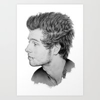 luke hemmings Art Prints featuring Luke by Drawpassionn