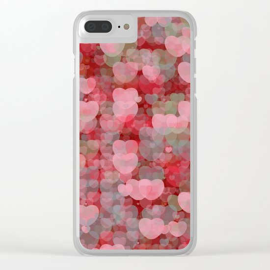 Hearts! Hearts! Hearts! Clear iPhone Case