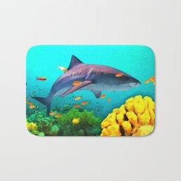Shark in the water Bath Mat