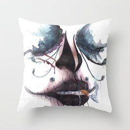 The Dead Like To Smoke Too Throw Pillow