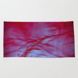 Pink Tree Blur Beach Towel
