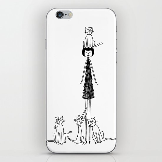 Crazy cat lady iPhone & iPod Skin