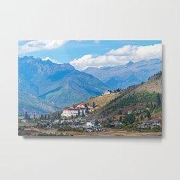 Bhutan: Paro Rinpung Dzong Metal Print