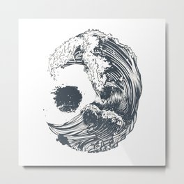 Moon Wave Metal Print