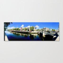 River Liffey, Dublin Pamorimic Canvas Print
