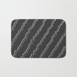 Pattern of brushed metal cylinders Bath Mat
