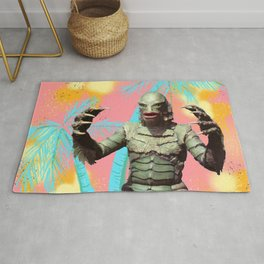 Creature of the pastel lagoon Rug