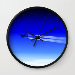 Jet Heading Home Wall Clock