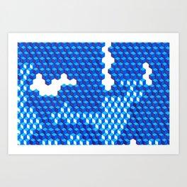 Blue Period Cubes Art Print