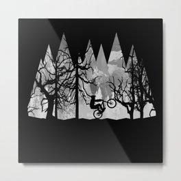 MTB Black Trees Metal Print
