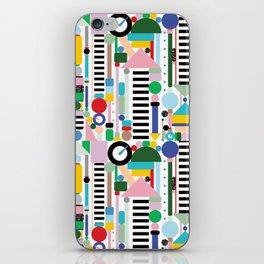 Memphis Milano Postmodern City Towers iPhone Skin