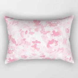 Abstract Flora Millennial Pink Rectangular Pillow