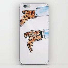 Leopard Boots iPhone Skin