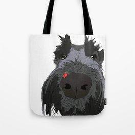 Ladybug Scottie Tote Bag
