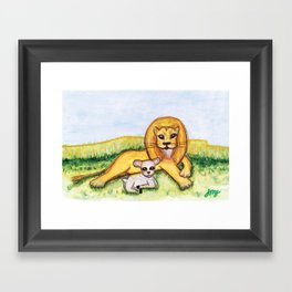 The Lion and the Lamb Framed Art Print