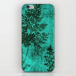 Botanical Turquoise iPhone Skin