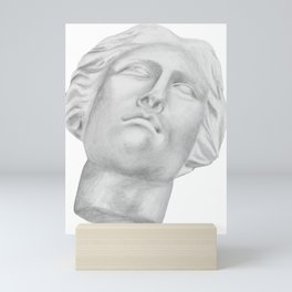 Neoclassical French head statue Mini Art Print