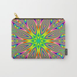 Psychedelic Rainbow Kaleidoscope Carry-All Pouch