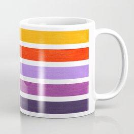 Orange & Purple Geometric Pattern Coffee Mug