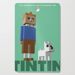 Tintin voxel tribute Cutting Board