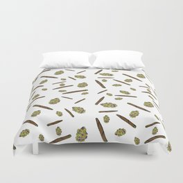 Blunts n Nugs Allover Print Duvet Cover